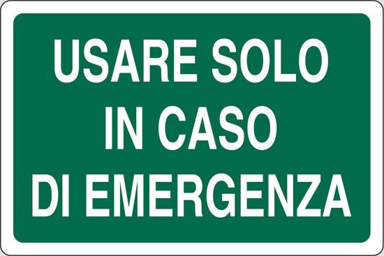 USARE SOLO IN CASO DI EMERGENZA