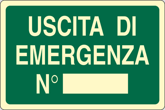 USCITA DI EMERGENZA N  luminescente