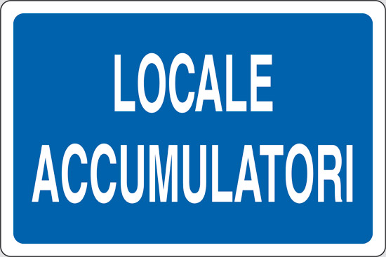 LOCALE ACCUMULATORI