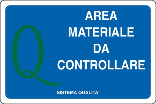 AREA MATERIALE DA CONTROLLARE