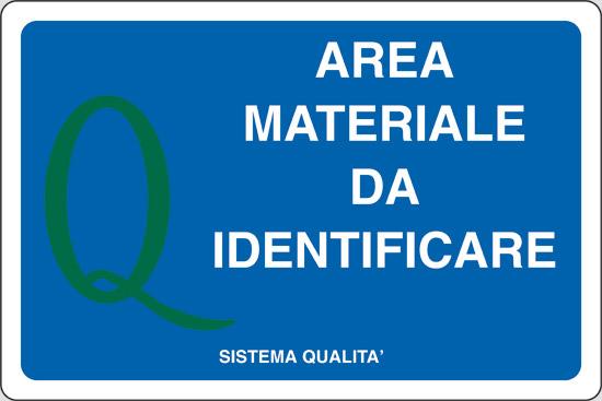 AREA MATERIALE DA IDENTIFICARE