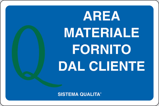 AREA MATERIALE FORNITO DAL CLIENTE