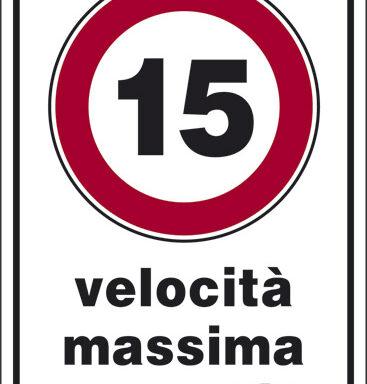 15 velocita' massima consentita