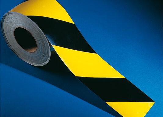 Rotolo rifrangente mt (fasce giallo nere) lunghezza del rotolo 45,7 m