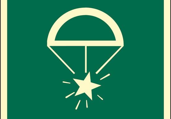 (razzi luminosi di segnalazione con paracadute) luminescente