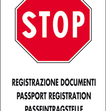 REGISTRAZIONE DOCUMENTI PASSPORT REGISTRATION PASSEINTRAGSTELLE ENREGISTREMENT DE PASSEPORT