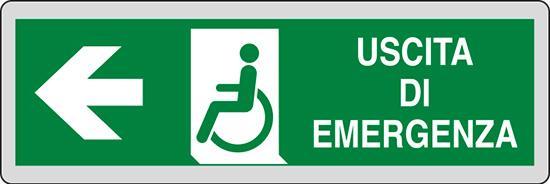USCITA DI EMERGENZA (disabili a sinistra)
