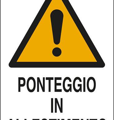 PONTEGGIO IN ALLESTIMENTO
