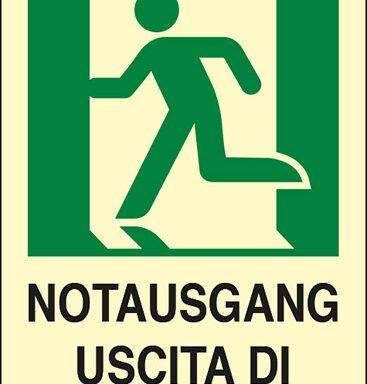 NOTAUSGANG USCITA DI EMERGENZA
