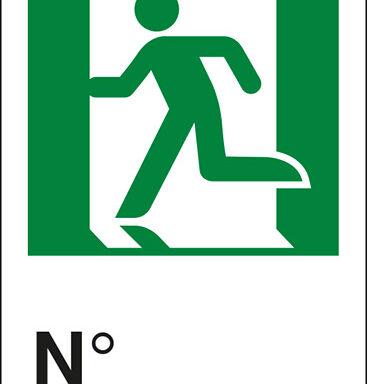 (uscita di emergenza a sinistra con omino) N