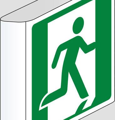 (uscita di emergenza a sinistra – emergency exit left hand) a bandiera