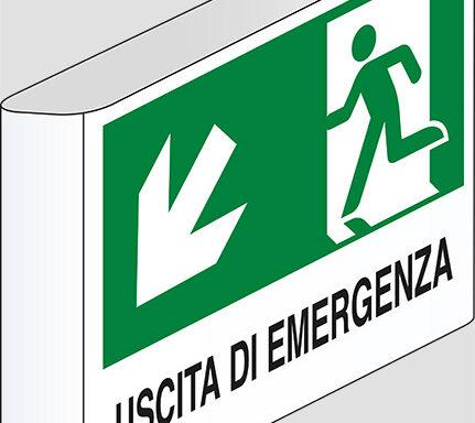 USCITA DI EMERGENZA (scala) a bandiera