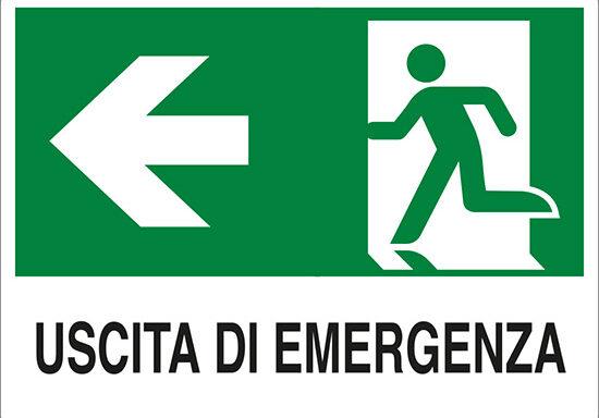 USCITA DI EMERGENZA (a sinistra)