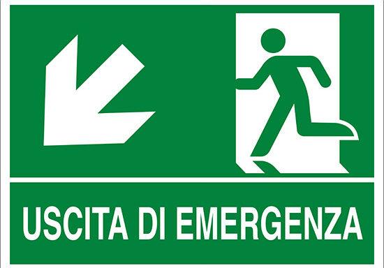 USCITA DI EMERGENZA (scala in basso a sinistra)