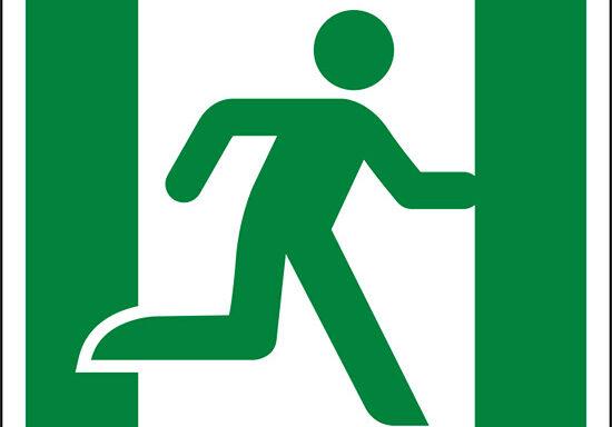 (uscita di emergenza a destra – emergency exit right hand)