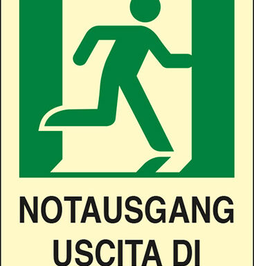 NOTAUSGANG USCITA DI EMERGENZA luminescente