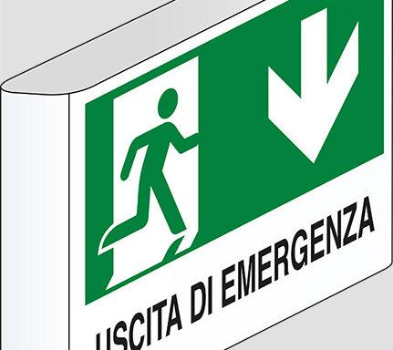 USCITA DI EMERGENZA (in basso) a bandiera