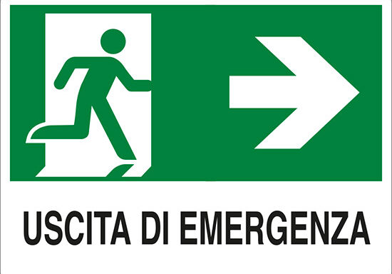 USCITA DI EMERGENZA (a destra)