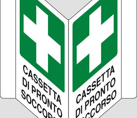 """CASSETTA DI PRONTO SOCCORSO a """"V"""""""