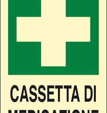 CASSETTA DI MEDICAZIONE luminescente