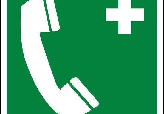 (telefono di emergenza – emergency telephone)