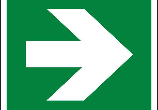 (freccia direzionale, incremento di 90°, condizioni di sicurezza – direction, arrow 90° increments, safe condition)