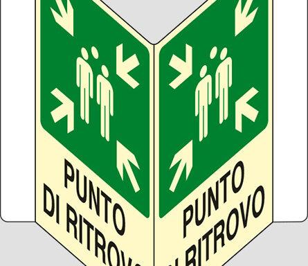 """PUNTO DI RITROVO a """"V"""" luminescente"""