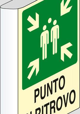 PUNTO DI RITROVO a bandiera luminescente