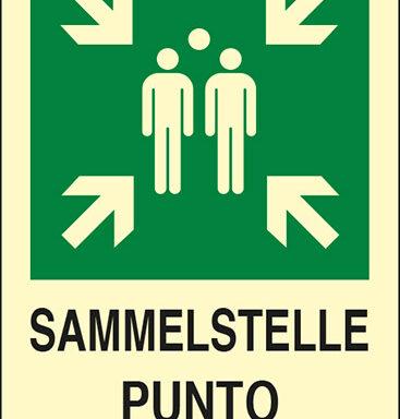 SAMMELSTELLE PUNTO DI RITROVO luminescente