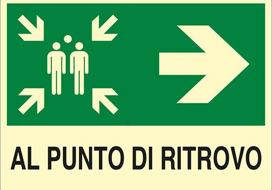 AL PUNTO DI RITROVO (a destra) luminescente