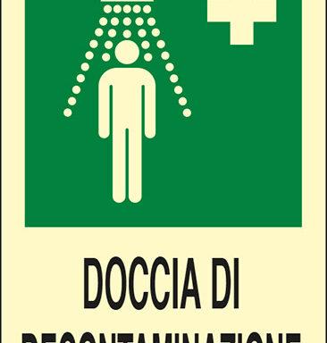 DOCCIA DI DECONTAMINAZIONE  luminescente