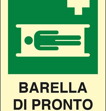 BARELLA DI PRONTO SOCCORSO  luminescente
