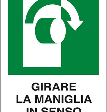 GIRARE LA MANIGLIA IN SENSO ORARIO