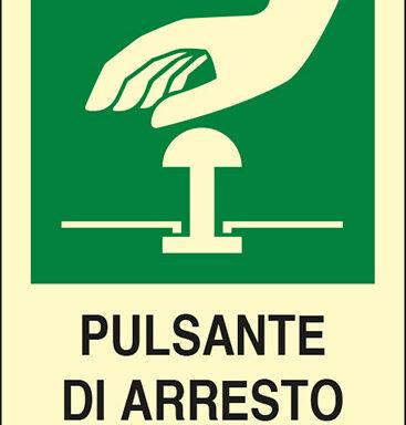 PULSANTE DI ARRESTO DI EMERGENZA luminescente