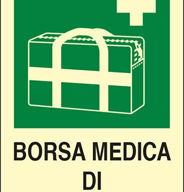 BORSA MEDICA DI EMERGENZA luminescente