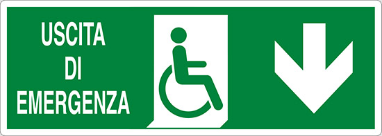 USCITA DI EMERGENZA (disabili in basso)