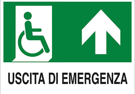 USCITA DI EMERGENZA (disabili in alto)