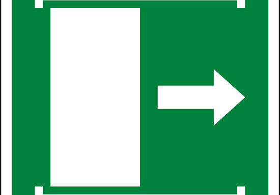 (apertura porta scorrevole verso destra – door slides right to open)