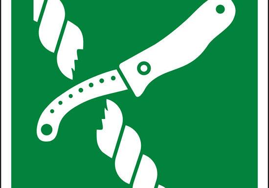 (coltello sul gommone di salvataggio – liferaft knife)