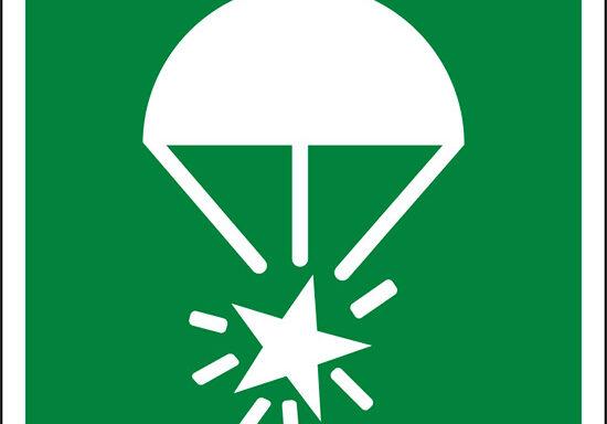 (razzo luminoso con paracadute – rocket parachute flare)