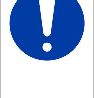"""(simbolo """"obbligo generico – general mandatory action sign"""" con spazio scrivibile)"""