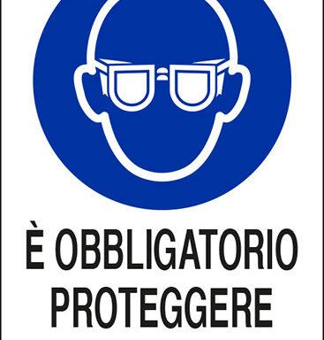 E' OBBLIGATORIO PROTEGGERE GLI OCCHI