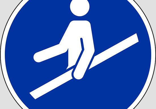 (use handrail)