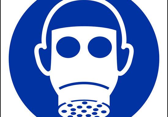 (e' obbligatorio indossare il respiratore – wear respiratory protection)