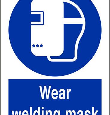 Wear welding mask