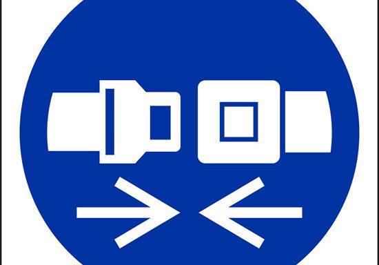(e' obbligatorio indossare la cintura di sicurezza – wear safety belts)