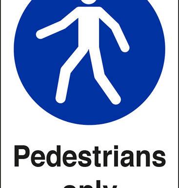 Pedestrians only