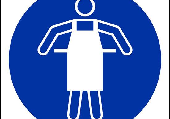 (e' obbligatorio usare il grembiule protettivo – use protective apron)