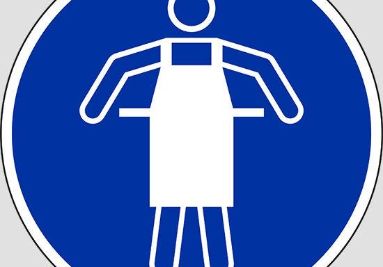 (use protective apron)
