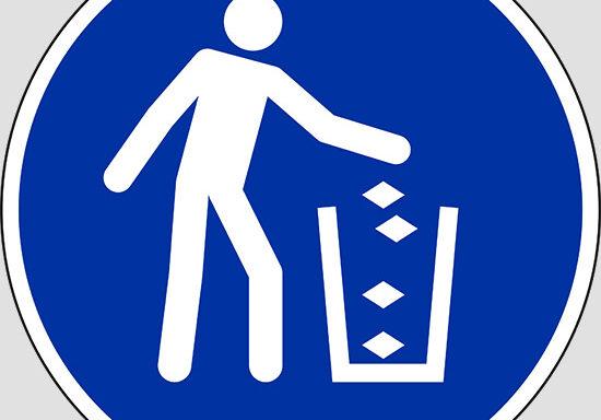 (use litter bin)